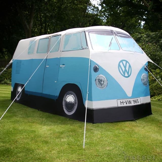 VW telt med kompleterende tilbehør. Endelig råd til bobil!